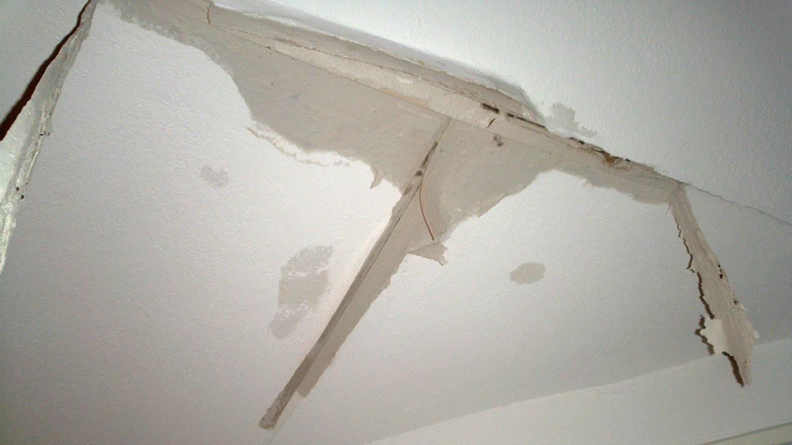Daklekkage van een plat dak